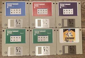 Vintage Microsoft Entertainment Pack 1,2,3,4,BestOf IBM PC 6-Disk Set Windows 3x