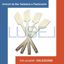 PZ 10 SPATOLE PLASTICA RIGIDA BIANCO COPRENTE GELATO PER GELATERIA PASTICCERIA