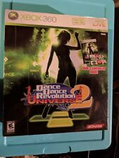 Dance Dance Revolution Universe 2 Bundle Game Controller Dance Mat XBOX 360 NEW