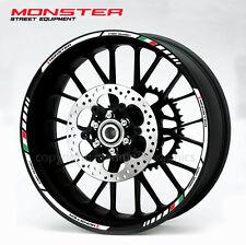 Ducati Monster motorcycle wheel decals rim stickers laminated set 796 821 1200