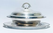 Fabulous Vintage WM Rogers Silver Plated Serving Dish/casserole With Tray