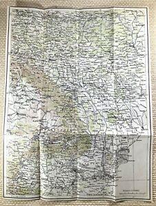 1917 German WW1 Map of Romania Bucharest Kiev Odessa Original Military War
