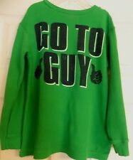 Boy's Green Old Navy Long Sleeve Thermal Shirt Size S 6-7 Go To Guy Thumbs Up