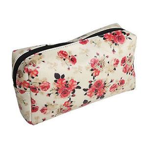 Lucky 13 Vintage Rose Makeup Bag Traveling Soft Case