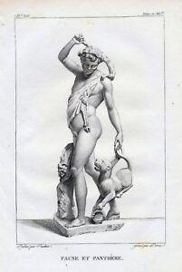 "Statue ""Faune avec la Panthere"" Rad.m.Kst.1814-18,0x12,0 cm b.Filhol, Paris"