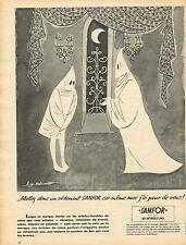 Publicité 1955  SANFOR chemise vetement de travail robe pyjama pret à porter
