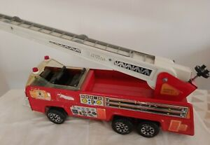 Vintage 1980s Tonka Metal Rescue 2 Fire Truck 50cm