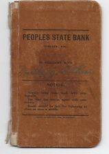 1911 Bankbook from the Peoples State Bank of Turlock CA