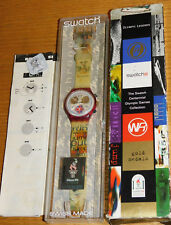 MONTRE SWATCH ATLANTA 1996 swiss uhr OLYMPIC games SCZ105 daley thompson JEUX