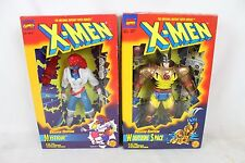 2 NIB Marvel Action Figure Toy Lot Collection Deluxe Edition Wolverine Mystique
