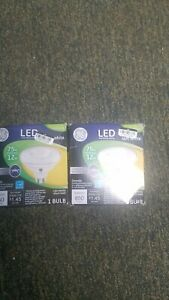 General Electric 75W LED Light Bulbs White Lot of 2