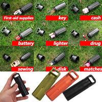 EDC Outdoor Survival Aluminium Case Waterproof Capsule Seal Bottle Container Dry
