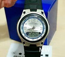 Nuevo Auténtico alarma Casio Blanco tiempo del mundo para hombres Reloj De Resina AW-82-7AV