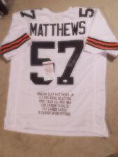 Clay Matthews signed white Browns STAT jersey, JSA, #57