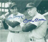 Mickey Mantle / Joe DiMaggio Autographed Signed 8x10 Photo HOF Yankees ) REPRINT