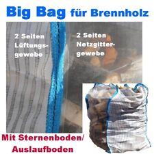 10  Holz Big Bag 100x100x120cm Sternenboden Holzbag Brennholz Kaminholz Woodbag