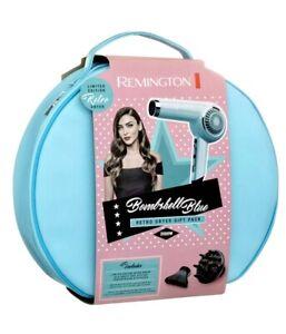 Remington Bombshell baby blue Retro Hair Dryer Set