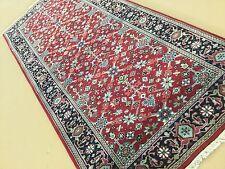 """2'.7"""" X 5'.10"""" Red Navy Blue Farahan Persian Oriental Rug Short Runner Handmade"""