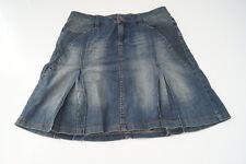ESPRIT Jeans Rock Minirock Jeansrock knielang stretch Gr.30 blau stonewashed TOP