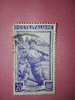 Francobollo Italia Al Lavoro 20 Lire La  Sciabica (Campania)