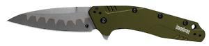 Kershaw Dividend Liner Lock Knife Olive Green Aluminum Composite Blade 1812OLCB