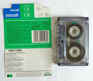 MC Musicassetta MAXELL UR 46 Vintage Compact Cassette Audiotape USATA no sony