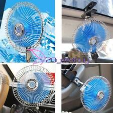 8'' 12V Mini Fan Auto Car Vehicle Dashboard Portable Clip-On Oscillating Cool#20
