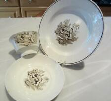 """Ridgway 1830s CHILDS 3pc SET~ CUP, SAUCER 8"""" PLATE Imperial Stone Staffordshire"""