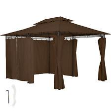 Gazebo da giardino di lusso tendone tenda per festa con parti laterali 3x4 Marro