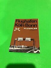 Flughafen Koln Bonn Timetable Route Map Brochure 1975