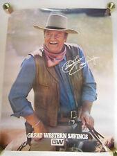 John Wayne ' Duke ' for Great Western Savings Bank Promo Poster 1979