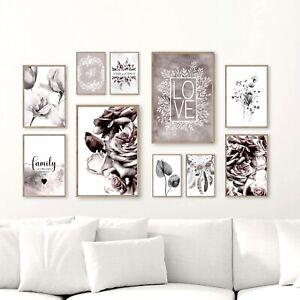 Bilderset FAMILY LOVE ROSEN HOME 10er Printset DIN A3/A4/A5 Bilder Poster Drucke