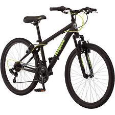 "Boys Bike Mountain Bicycle Mongoose 24"" Shimano Alloy Rims Kids Cycling Ride NEW"