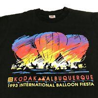 Kodak International Balloon Fiesta T Shirt Adult M Black Vintage 90s Albuquerque