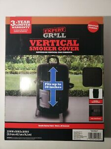 Expert Grill Vertical Smoker Cover 22Wx18Dx30H Waterproof Ripstop Fabric- NEW