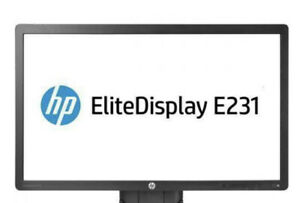 """50 x HP E231 EliteDisplay 23"""" Monitors.  Full HD LED Backlit No Stands (50x)"""