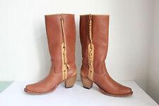 Sendra Western Cowboy Boots Bikerstiefel Voll Echtleder Braun Eu:38,5- Wie Neu