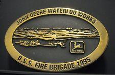 John Deere DSS TAD FIRE BRIGADE NFPA 704 System EMPLOYEE Belt Buckle 1995 1/68