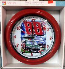 """NASCAR #88 DALE EARNHARDT Jr. -  9.25"""" WALL CLOCK"""