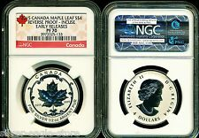 2015 $4 CANADA SILVER MAPLE LEAF INCUSE NGC PF70 UCAM REVERSE PROOF 1/2 OZ ER