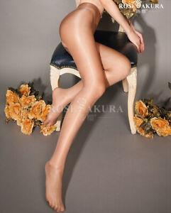 Crotchless Glossy Stocking Thigh High Nylon Shiny Sheer Pantyhose