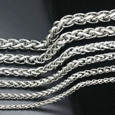 "Steel Wheat Necklace for pendant 10pcs 3mm22"" Wholesale Men Silver Stainless"