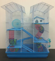 5 Level Large Twin Towner Hamster Habitat Rodent Gerbil Mouse Mice Rats Cage 368