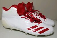 Adidas Adizero 5-Star 6.0 Men's Soccer Cleats White Red Size 16 B39409 New