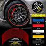 """Strisce Auto adesive adesivi cerchi CATARIFRANGENTI™ 9 mm 19"""" wheel rim stickers"""