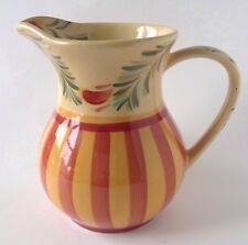 Gail Pittman Pottery Siena Pitcher Southern Living At Home SLAH Red Yellow 48 Oz