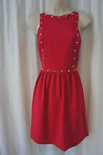 Kensie Dress Sz 12 Berry Revival Pink Studded Sleeveless Cocktail Party Dress