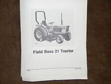 Iseki Field Boss 21 tractor parts manual