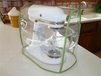 Green Apple Trimmed CLEAR MIXER COVER fits KitchenAid Tilt-Head  – (4.5-5 Qt.)