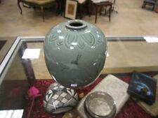 20th Century Celadon Globular Vase
